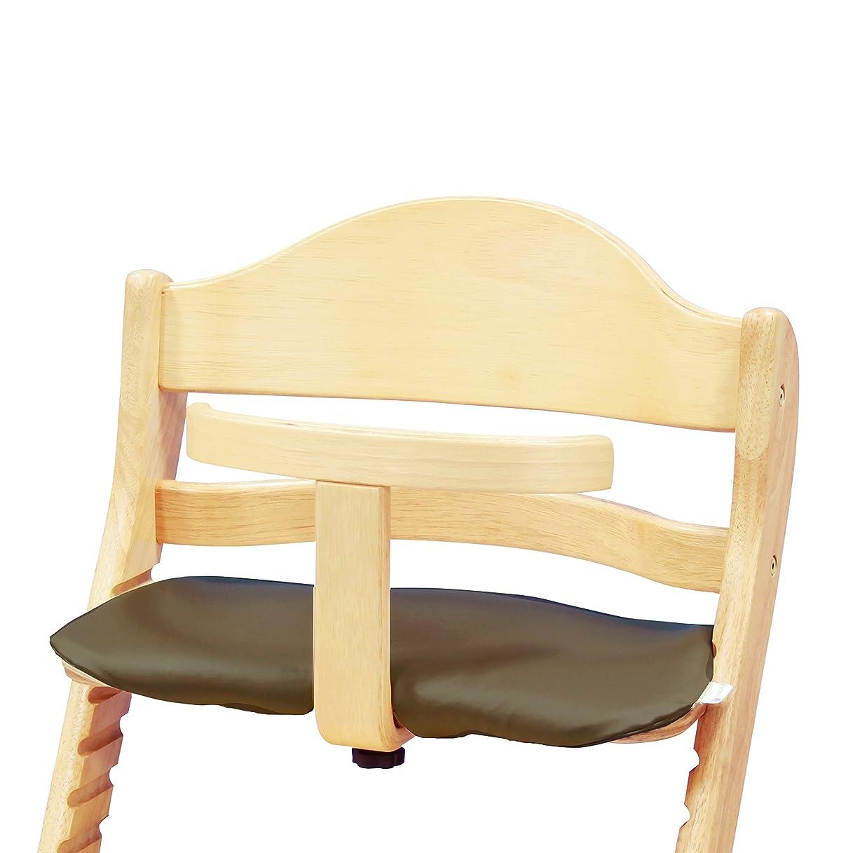 ナチュラコンセンサス散歩に行くカトージ 木製ハイ&ローチェア用クッション リーフグリーン 23916