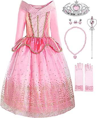 UK STOCK  Rainbow Mermaid Dress Up Kids Fancy Dress costume with Accessories set