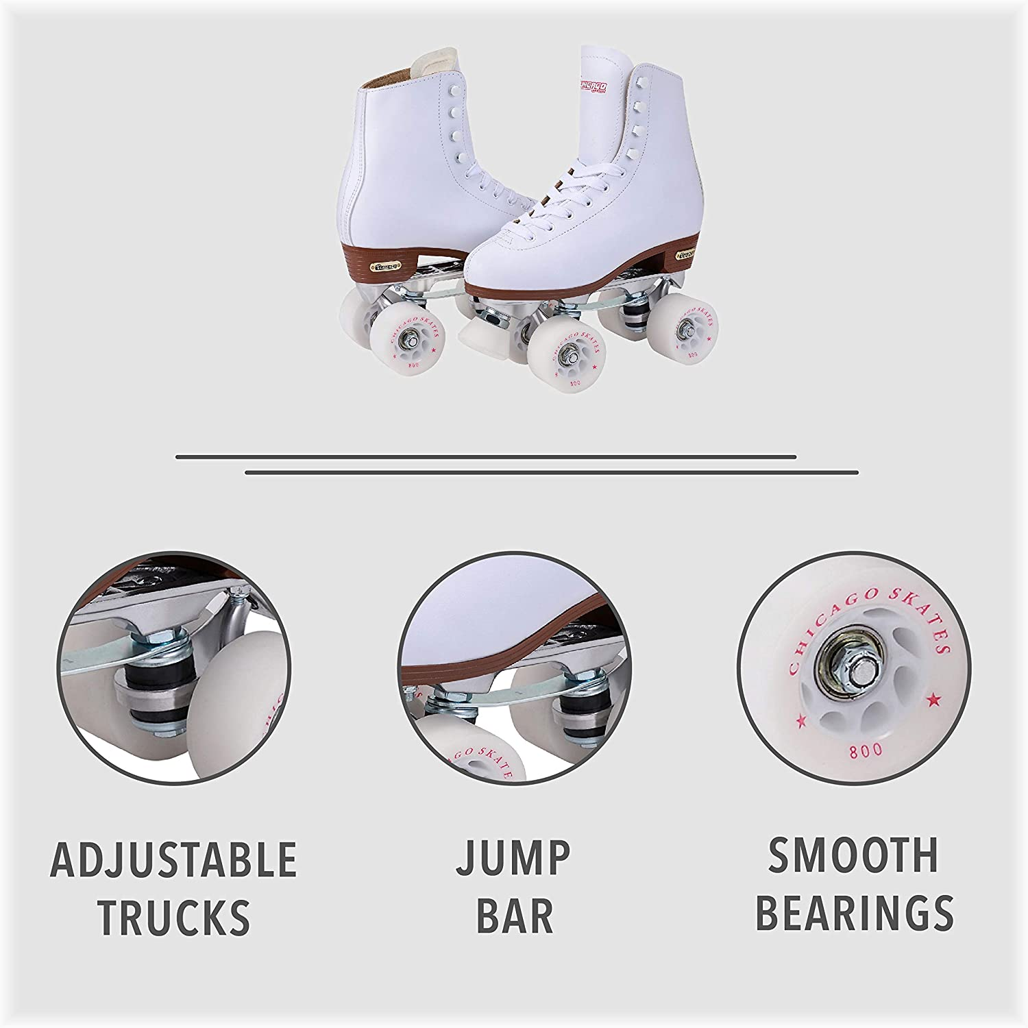 Chicago Women's Premium Leather Lined Rink Roller Skate - 1