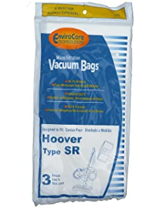 EnviroCare Replacement Micro Filtration Vacuum Bags for Hoover Type SR Canisters 3 pack
