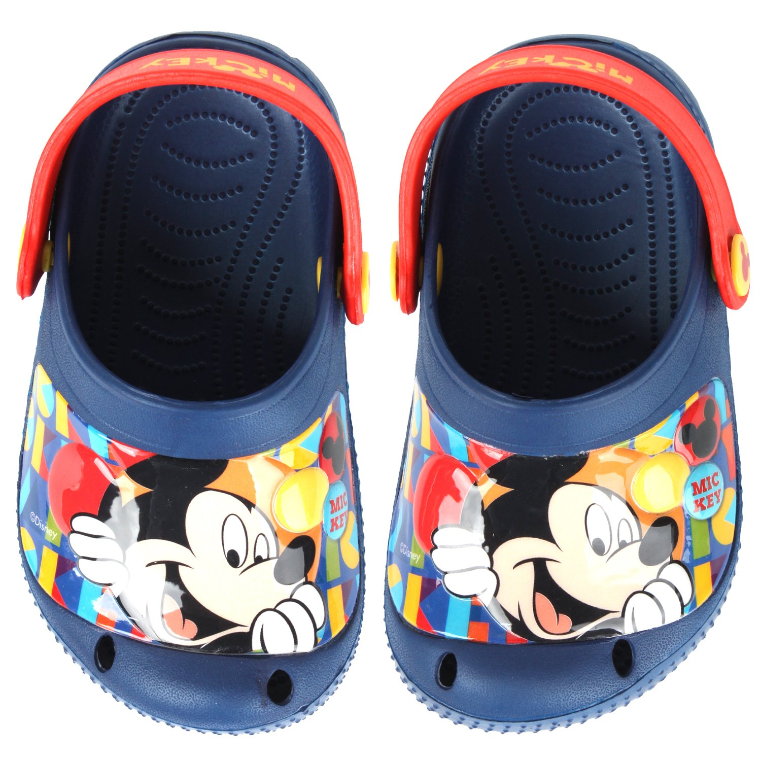 Joah Store Mickey Mouse Prism Boy's Blue EVA Sandals (Parallel Import/Generic Product) (7 M US Toddler)