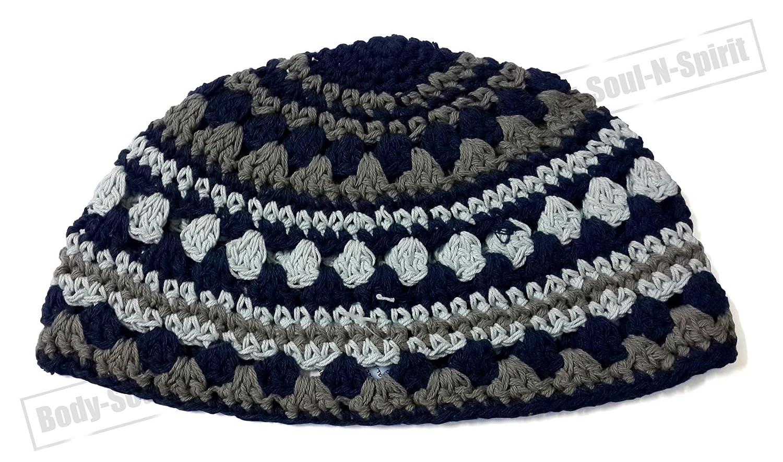 9d8a1c816b7 Amazon.com  Israel Hat Covering Cap Frik cupola Yarmulke Knitted Tribal  Jewish Yamaka Kippa  Health   Personal Care
