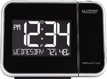 La Crosse Technology Projection Alarm Clock with Indoor Temperature