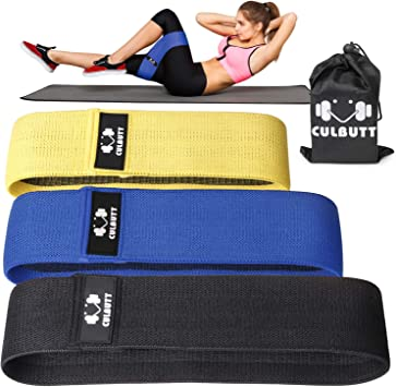 Resistance Exercise Bands Booty Workout Loops Legs Butt-Set Of 5 Free Ebook,