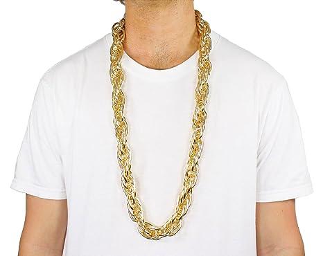 Largemouth 40u0026quot; Heavy Rope GOLD PIMP CHAIN OLD SCHOOL RAPPER Costume Bling!! (  sc 1 st  Amazon.com & Amazon.com: Largemouth 40