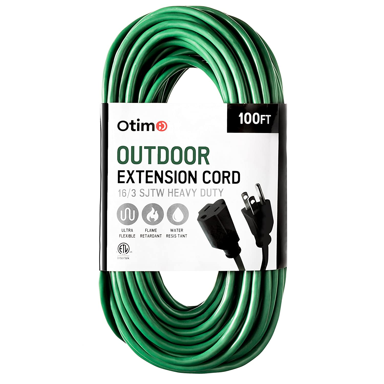 Otimo 100 ft 16/3 Outdoor Heavy Duty Extension Cord - 3 Prong ...