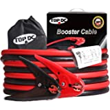 $26.99 TOPDC 100% Copper Battery Jumper Cables 4 Gauge 12 Feet 500AMP UL Listed with Carry Bag and Gloves (4GA x 12Ft)