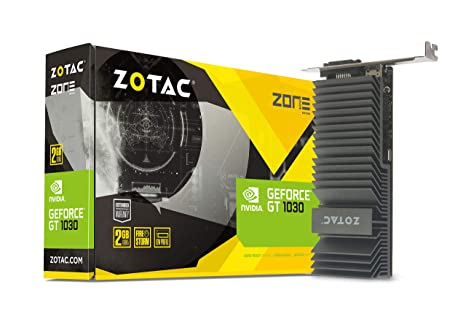 Zotac ZT-P10300B-20L - Tarjeta gráfica (GeForce GT 1030, 2 GB, GDDR5, 64 bit, 6000 MHz, PCI Express 3.0)