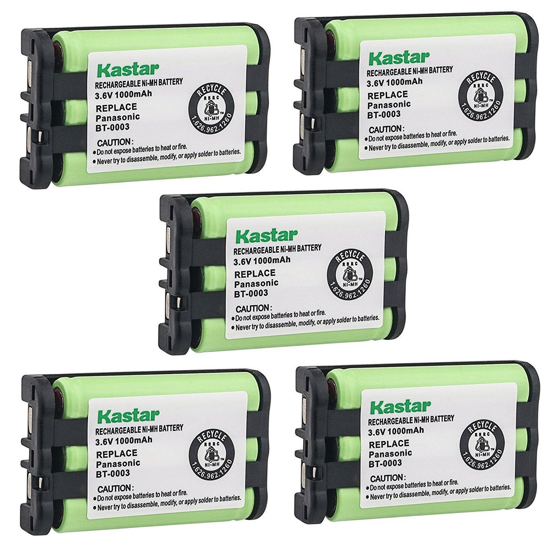 Kastar Battery (5 Pack), Ni-MH 3.6V 1000mAh, for Uniden BT-0003 BT0003 CLX-465 CLX-485 CLX-4753 TCX-400 TCX-440 WIN1200 BBTY0545001 UIP1869V CLX465 CLX4753 CLX485 TCX400 TCX440 CLX475-3 CLX502 CLX-502