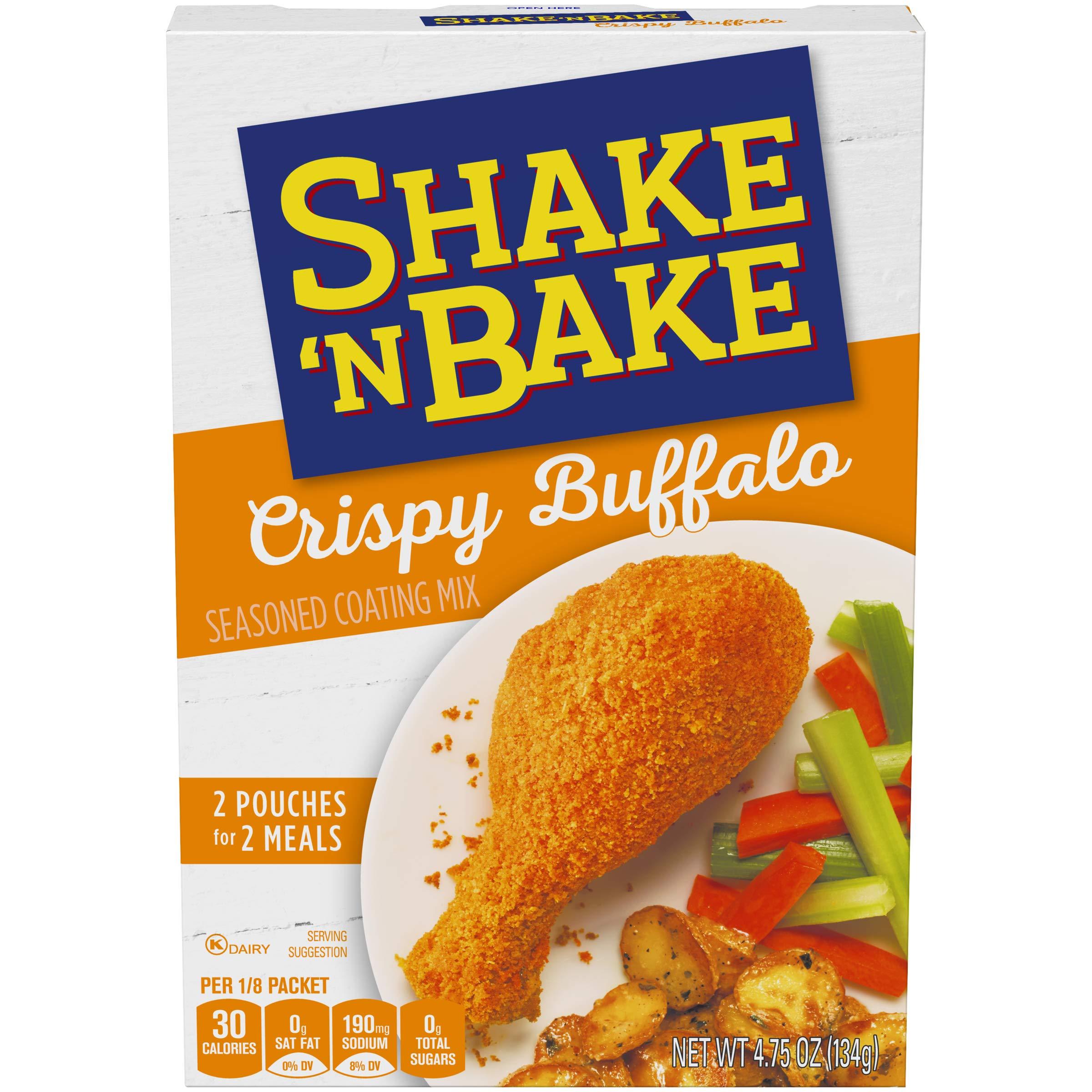 Shake 'N Bake Crispy Buffalo Seasoned Coating Mix Box (4.75 oz Boxes, Pack of 8) by Kraft