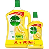 Dettol Dettol Lemon Healthy Home All- Purpose Cleaner 3L + 900ml '