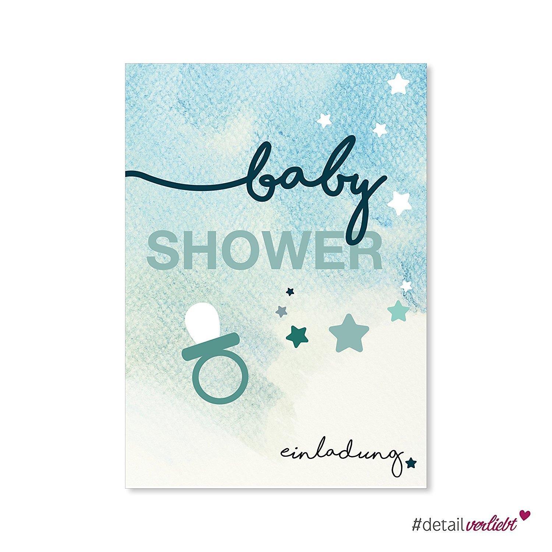 15 tarjetas de invitación para baby shower, dv_148, DIN A6 ...