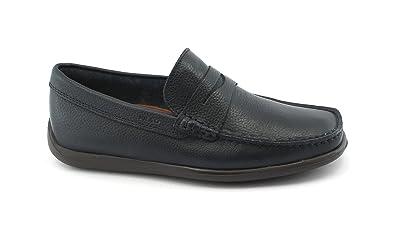 FRAU Fx 14L2 Zapatos Azules Hombre Mocasines de Piel Flexible, 42