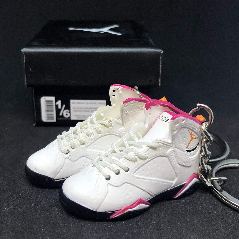 d8cc994c6596 Amazon.com   Pair Air Jordan VII 7 Retro Cardinal White Red Black OG  Sneakers Shoes 3D Keychain 1 6 Figure + Shoe Box   Everything Else