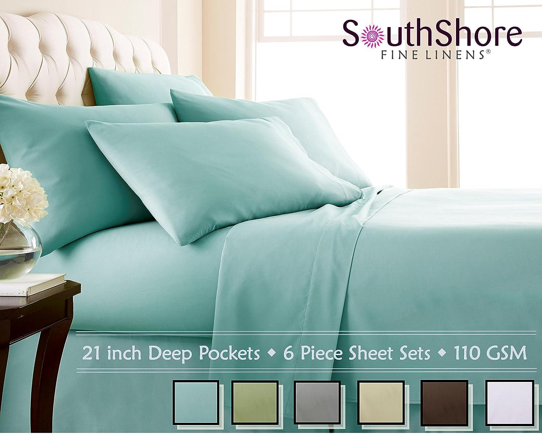 Charmant Amazon.com: Southshore Fine Linens 6 Piece   Extra Deep Pocket Sheet Set    SKY BLUE   King: Home U0026 Kitchen
