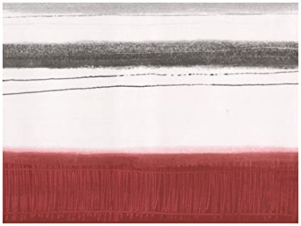 Prepasted Wallpaper Border Abstract Modern Art Blood Red