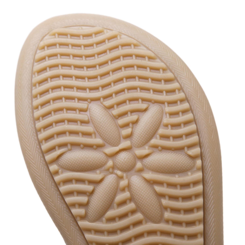 SANMIO Damen Sandalen Sommer Sandalen Zehentrenner Damen Flach Sommerschuhe PU Leder Bohemia Strass Flach Sandaletten Sommer Strand Schuhe Gr/ö/ße 36 bis 44