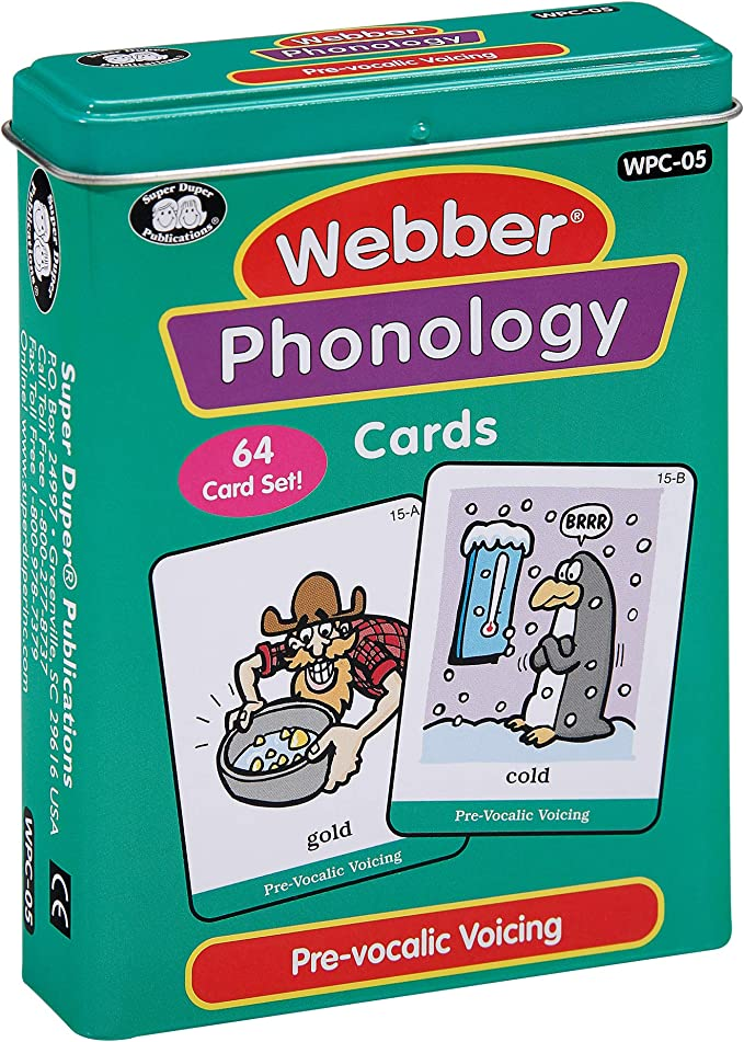 Super Duper Publications Webber Photo Phonology Nasalization Minimal Pair Card Deck Educational Learning Resource for Children