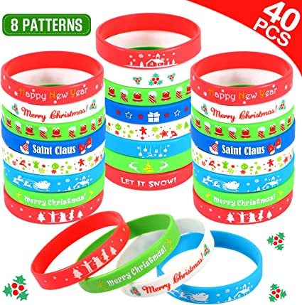 Xmas Rubber Character Silicon Finger Rings Toy Stocking  Filler 2 X 3cm 4