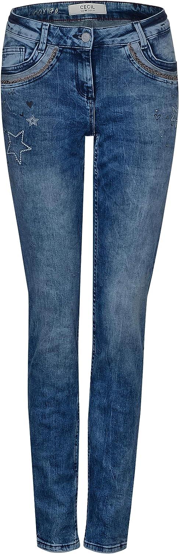 Cecil Charlize Slim Deco Blau