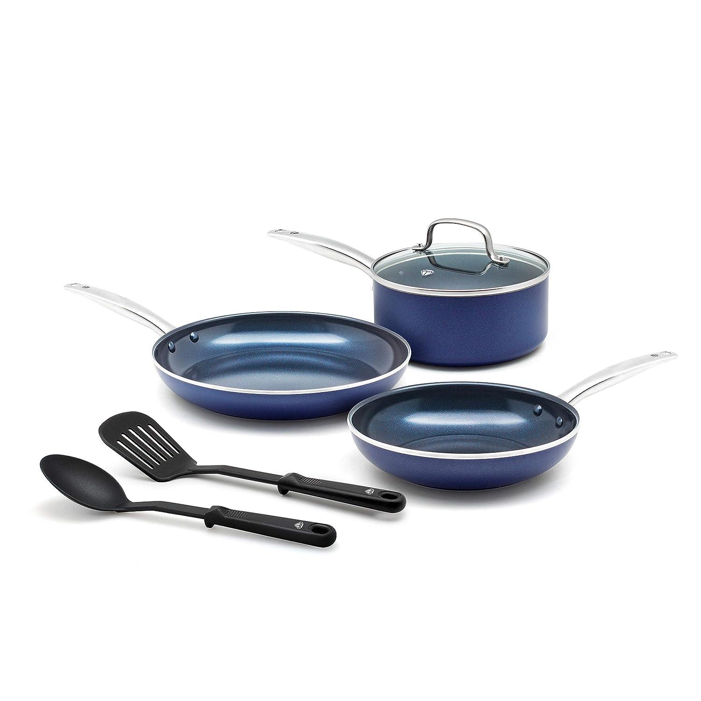 Blue Diamond Pan CC001950-001 cookware-set 6pc Blue