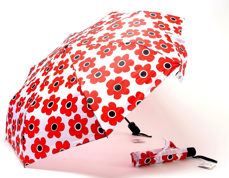 Colorful Hearts Patterns Travel Umbrella Compact 42.5 Inch Rain Umbrella for Men Women Automatic Folding Umbrella Auto Open Close