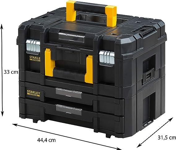 Stanley - FatMax FMST1-71981 Maleta multiusos para herramientas con cajonera doble PRO-STACK II y IV, Negro: Amazon.es: Bricolaje y herramientas