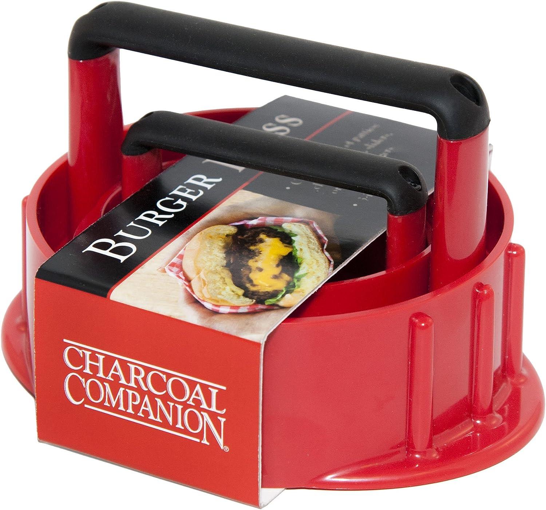 Rouge Charcoal Companion Presse /à Hamburger 3-en-1 CC5153-rouge 13,5 x 4,1 x 11,2 cm