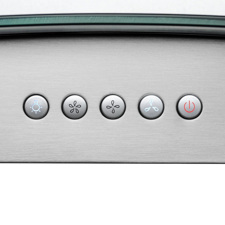 AKDY 36 Euro Style LED Lights Stainless Steel Island Mount Range Hood.