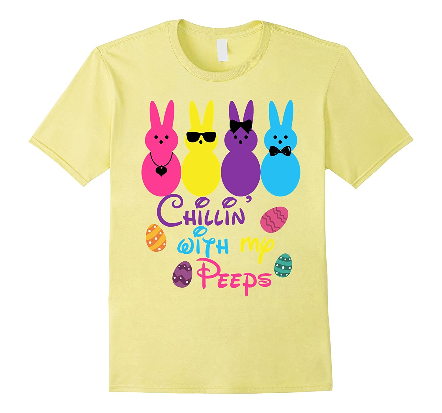 495ff3f1 Chillin With My Peeps Funny Easter T-Shirt-TD – Teedep