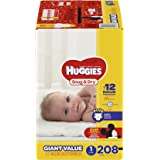 HUGGIES Snug & Dry Diapers, Size 1, 208 Count, GIANT PACK (Packaging May Vary)