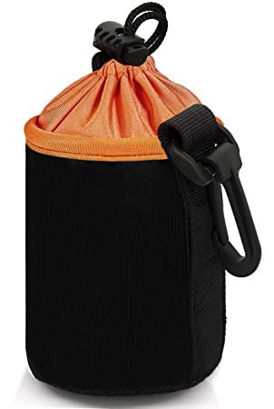 MyGadget Funda Protectora para Objetivos Fotográficos - Bolsa de Neopreno Impermeable para Lentes Camara Reflex/Canon/Nikon/Pentax/Sony - Tamaño S