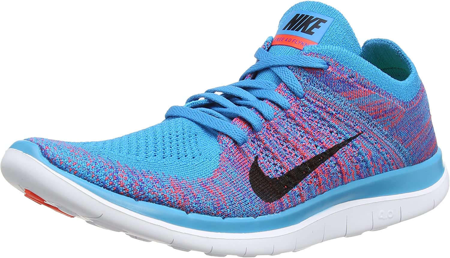 Acción de gracias donante argumento  Nike Free 4.0 Flyknit, Men's Running Shoes, (Blue Lagoon/Bright  Crimson-Game Royal-White), 9.5 UK (44 1/2 EU): Amazon.de: Schuhe &  Handtaschen