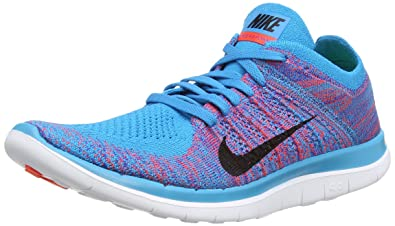 reputable site d5d87 994cf Image Unavailable. Image not available for. Color  Nike Free 4.0 Flyknit  Blue Lagoon Bright Crimson Game Royal ...