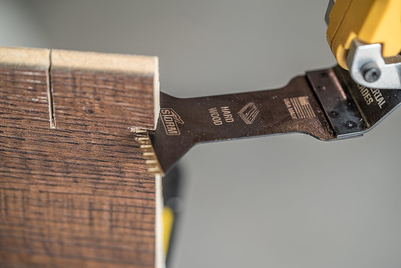 One Fit 1-3//4 Japanese Tooth Storm Titanium Hardwood Blade 3PC