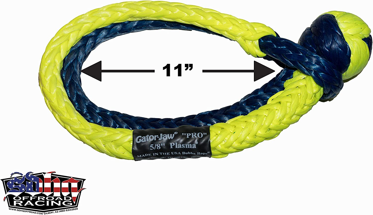 52,300LB Breaking Strength Pro Red, White /& Blue Bubba Rope GatorJaw Soft Shackle