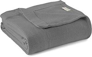 Whisper Organics 100% Cotton Blanket - Soft, Woven Cotton Blanket - Organic Cotton Blanket - Breathable Blanket for Bed - GOTS Certified Bed Blanket, 60