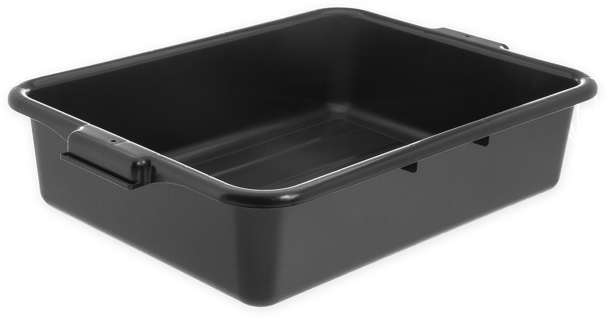 Carlisle N4401003 Comfort Curve Bus Box/Tote Box, 5'' Deep, Black (Pack of 12)