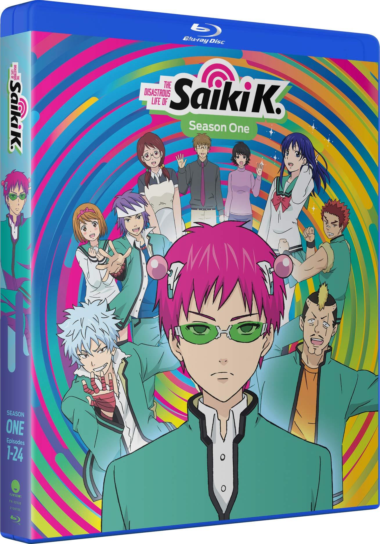 Blu-ray : The Disastrous Life Of Saiki K.: Season One (Standard Edition, Boxed Set, Snap Case, Slipsleeve Packaging, Digital Copy)