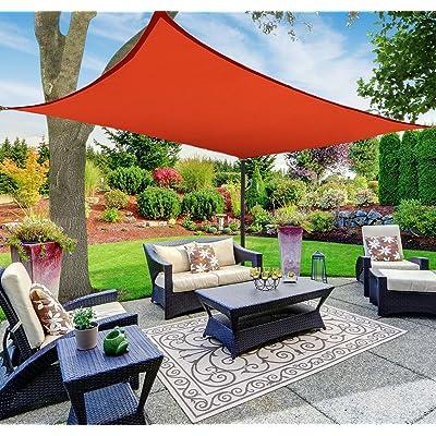Sun Shade Sail Canopy, Rectangle, Red, 12' x 16' : Garden & Outdoor