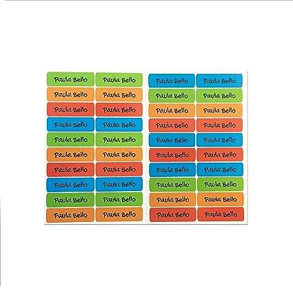50 Etiquettes Adhesives Scolaires Autocollants Pour Marquer Les Livres Scolaires Mesurer 6 X 2 Cm Couleur 1