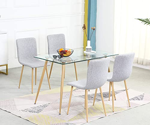Dining Table Set Modern 5 Pieces Dining Room Set