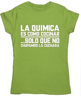 HippoWarehouse La química es como cocinar ... solo que no chupamos la cuchara camiseta manga corta ajustada para mujer: Amazon.es: Ropa y accesorios