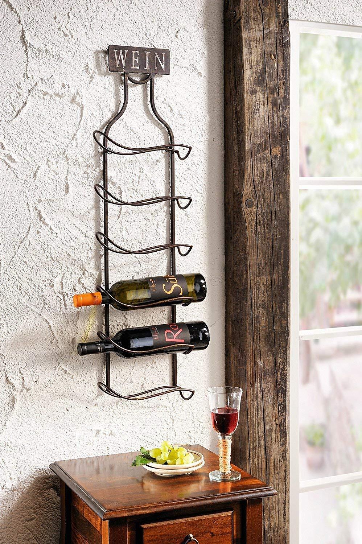 Wandregal Wein Amazon De Kuche Haushalt