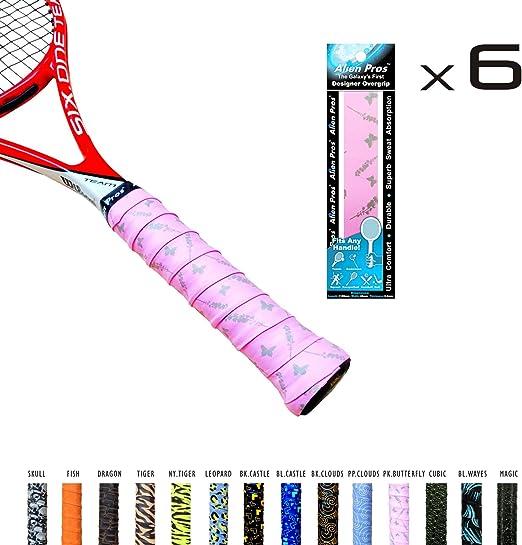 Alien profesionales Overgrip de tenis de x-tac cinta perfecta para raqueta de tenis, agarre, racquetball raqueta de squash y más. 3-Pack: Amazon.es: Deportes y aire libre