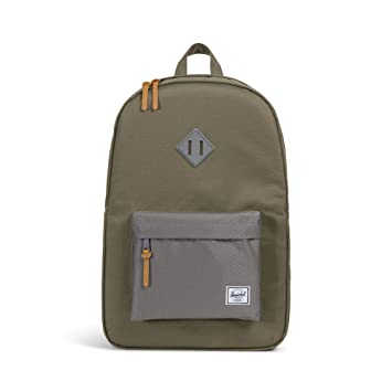 ea25d443929 Amazon.com | Herschel Heritage Backpack Ivory Green/Smoked Pearl One Size |  Casual Daypacks