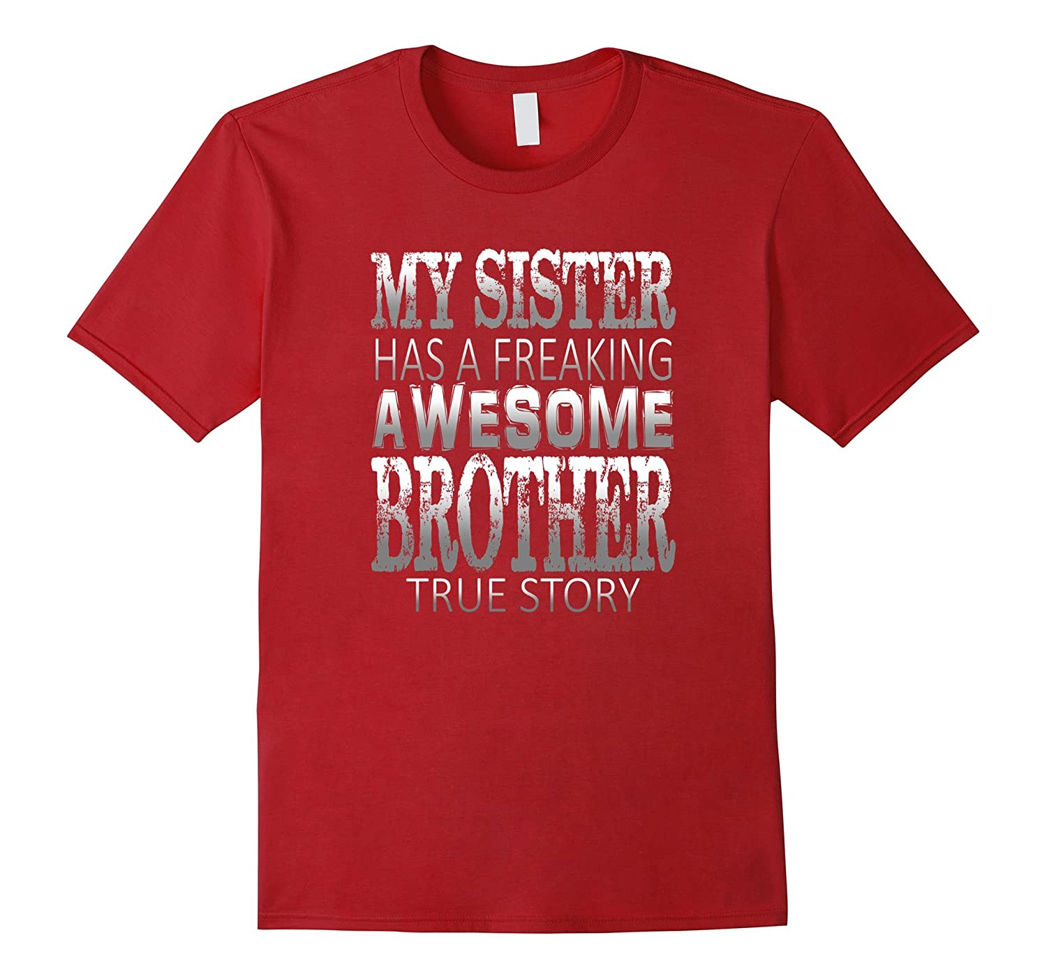 ON SALE  Premium Sister Has Awesome Brother Funny T-shirt-Art