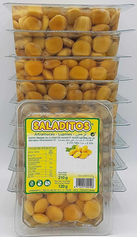 Altramuces Saladitos 10 bandejas de 210 g: Amazon.es ...
