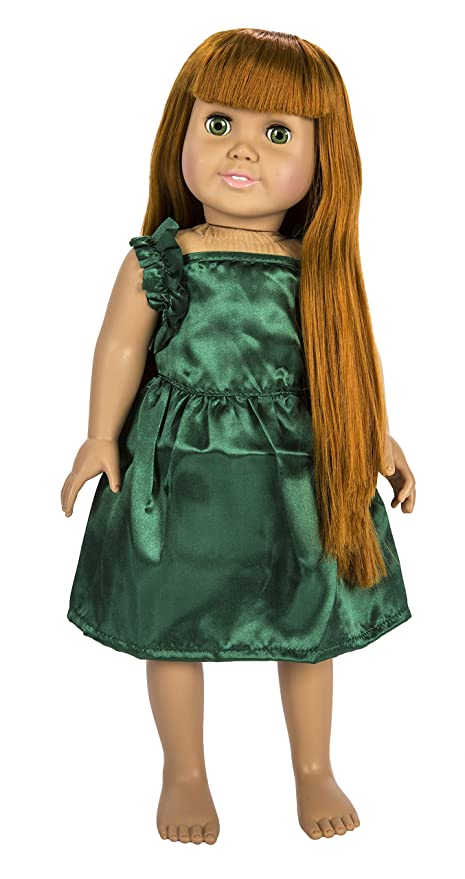 Springfield Collection by Fibre-Craft – Hunter Green Satin Party Dress – Fits All 18