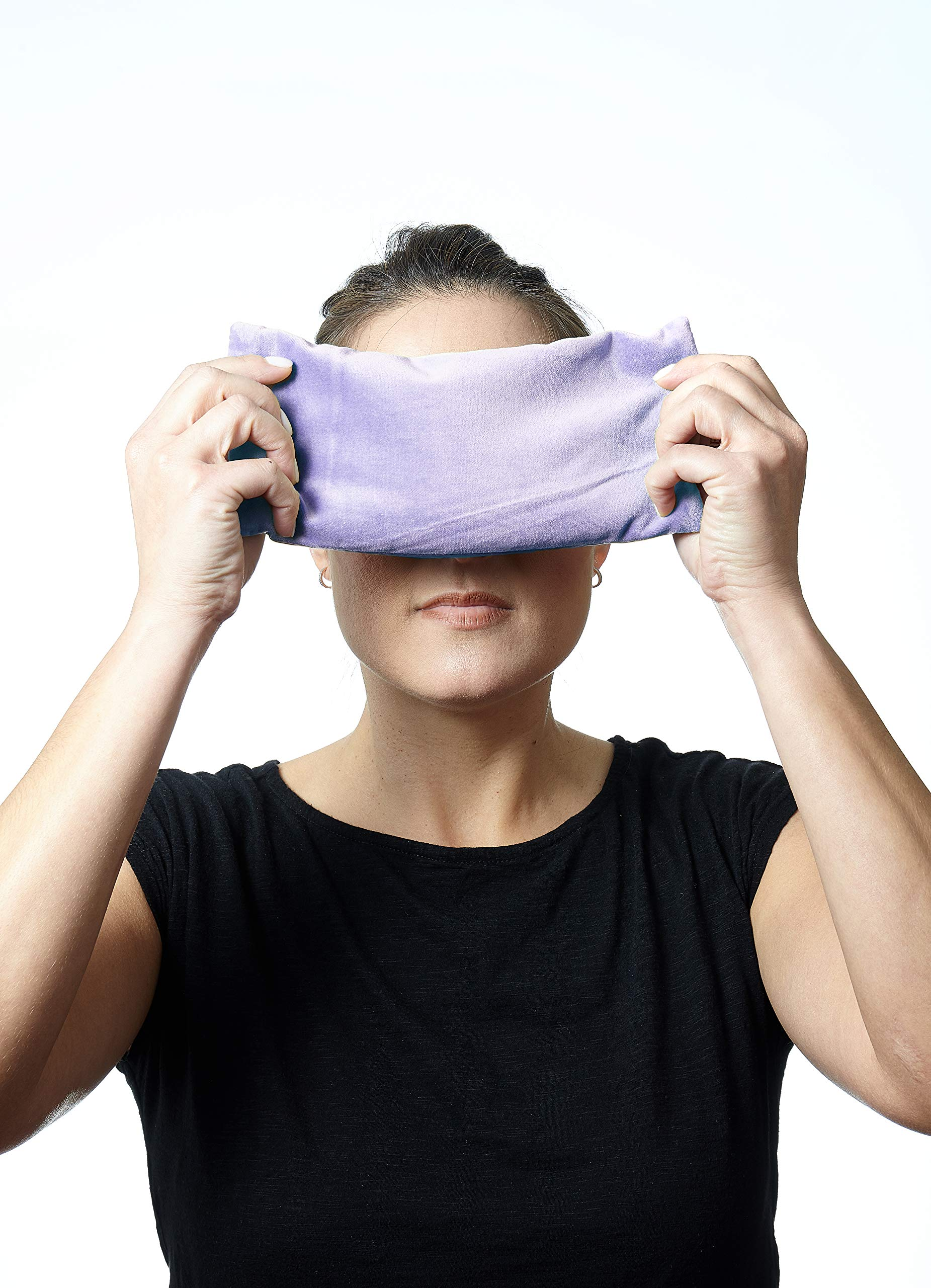 DreamTime Inner Peace Eye Pillow, Lavender Velvet, Soothing Aromatherapy Stress and Headache Relief for Wellness and Relaxation, Pack of 1 by DreamTime